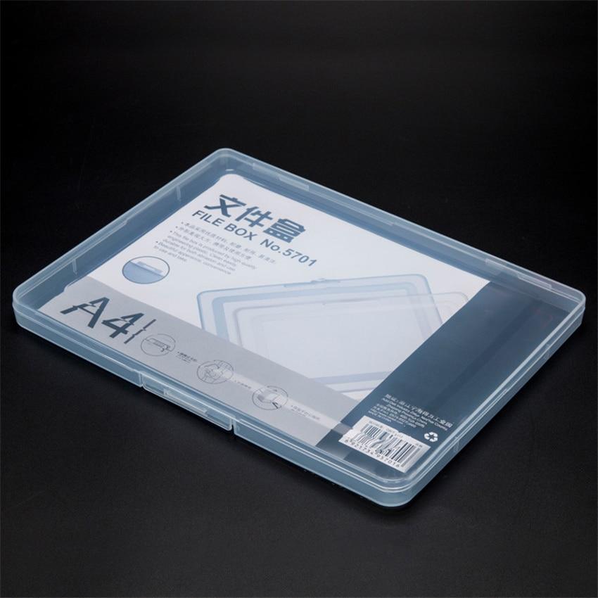 A4 ультра-тонкая портативная прозрачная коробка для файлов, дорожный журнал для документов, тестовая бумажная коробка для хранения, Офисная ...