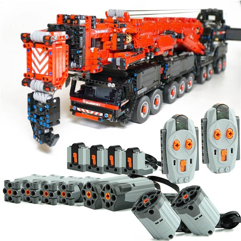 Новый технический строительный блок Moc-20920 11200 большой кран инженерный кран пульт дистанционного управления Сборка DIY игрушки мальчик подар...