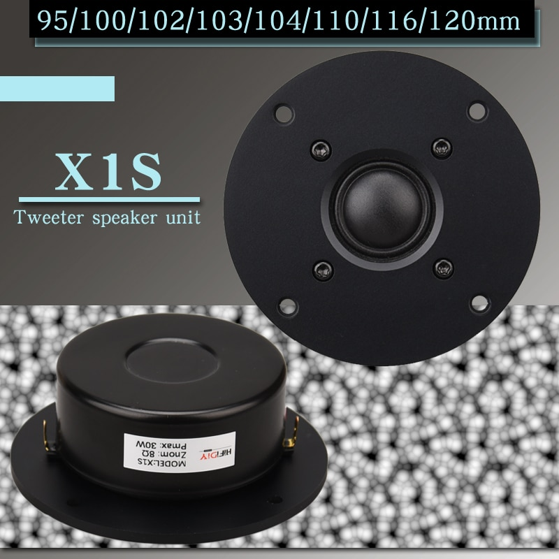HIFIDIY لايف 3.7 4 4.5 بوصة مكبر الصوت وحدة اللغة الأسود الحرير غشاء 8OHM 30W ATreble مكبر الصوت X1S 94 100 104 110 116 120 مللي متر