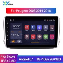 Reproductor multimedia de DVD para coche Android 10,1 de 8,1 pulgadas para Peugeot 2008 308, cable 2012-2018, sistema de navegación GPS, radio para coche no 2 din