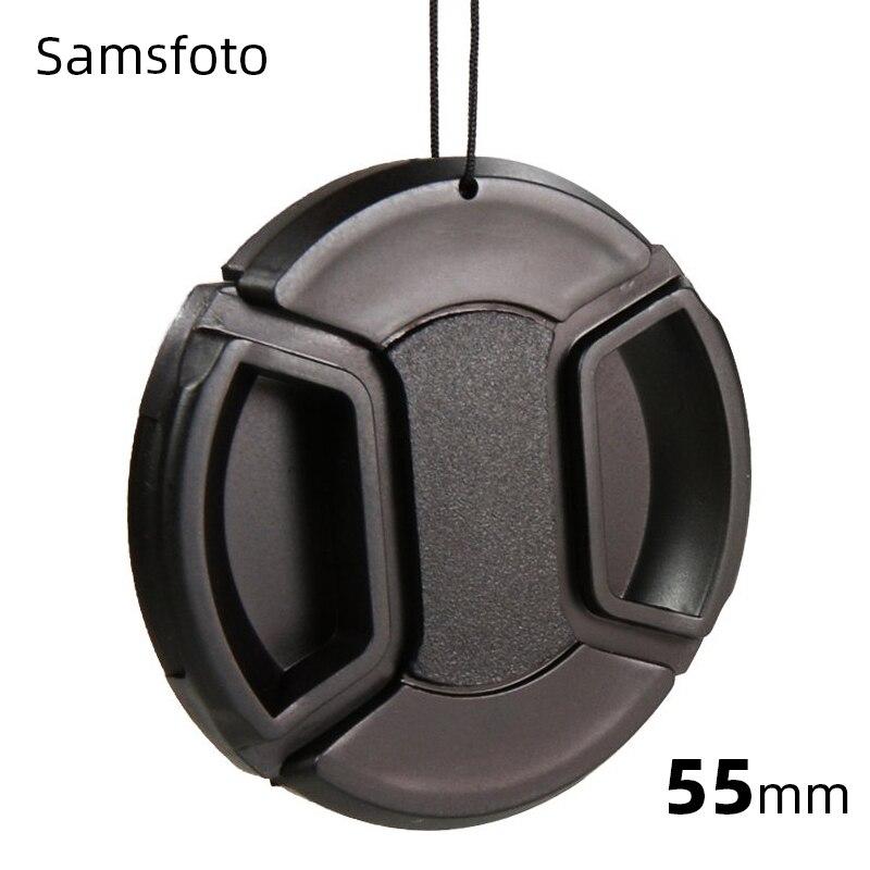 Tapa de lente a presión de 55mm para Nikon D3400 D3500 D5600 AF-P 18-55mm para Sony A7 A7 II A7 III FE 28-70mm