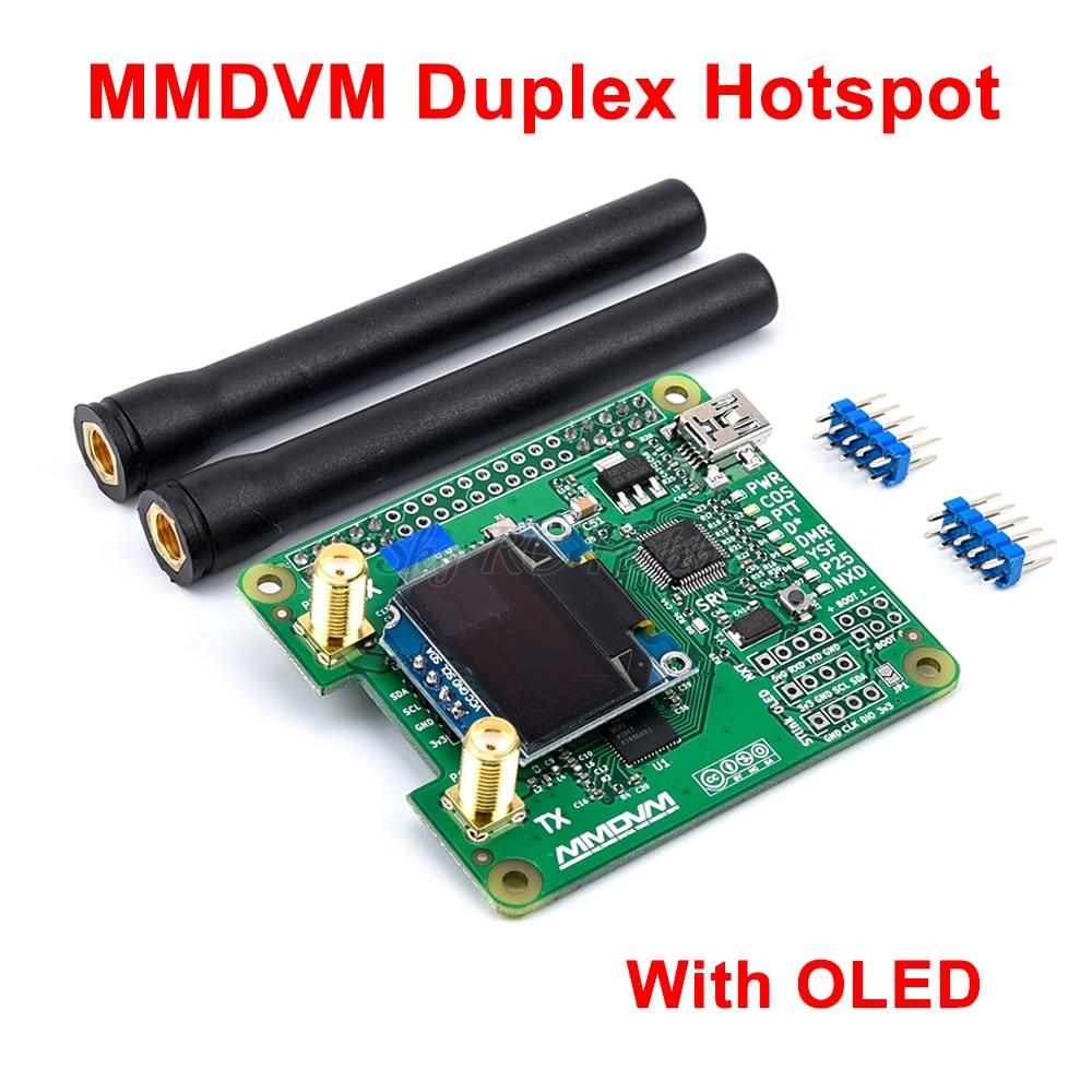 V1.3 MMDVM_HS_Dual_Hat Duplex Hotspot pensione + Antenna + OLED Supporto P25 DMR YSF NXDN Per Raspberry pi