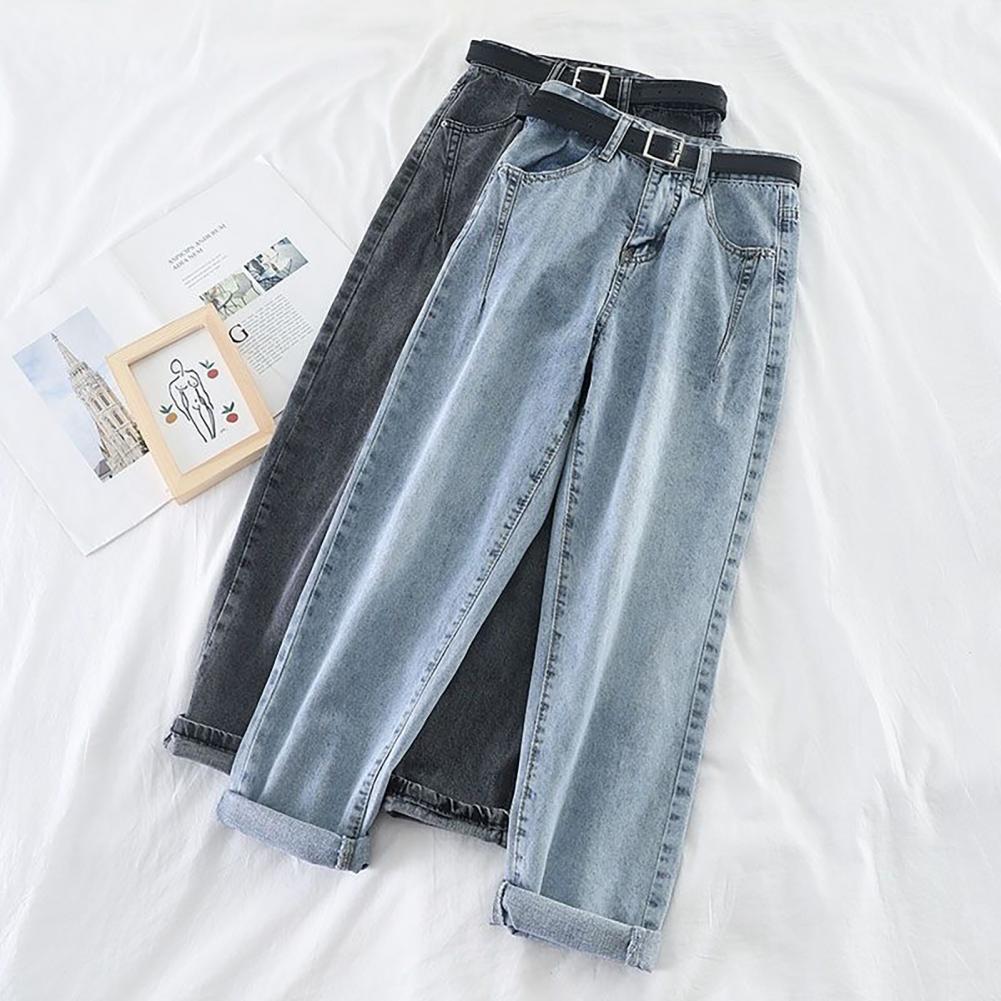 Джинсы размера плюс женские свободного покроя, брюки с завышенной талией, уличная одежда, спортивные штаны, уличная одежда 5XL, весна-лето