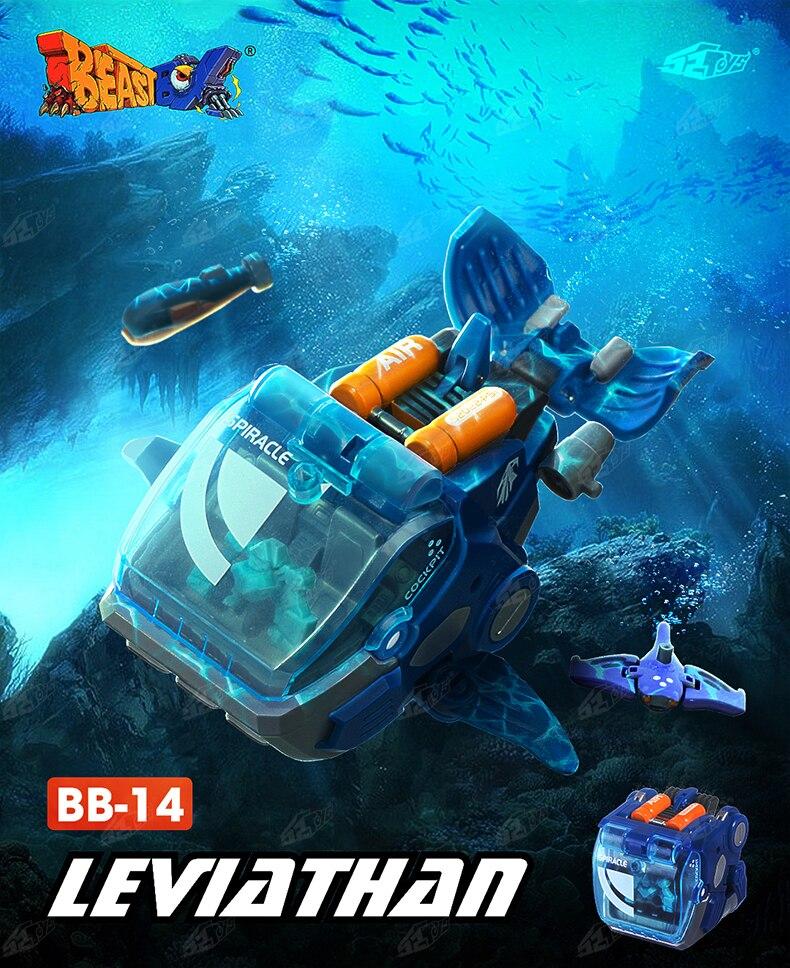 Трансформация 52 игрушки BEASTBOX чудовище серии Левиафан КИТ ПВХ актин фигурка ребенок кукла