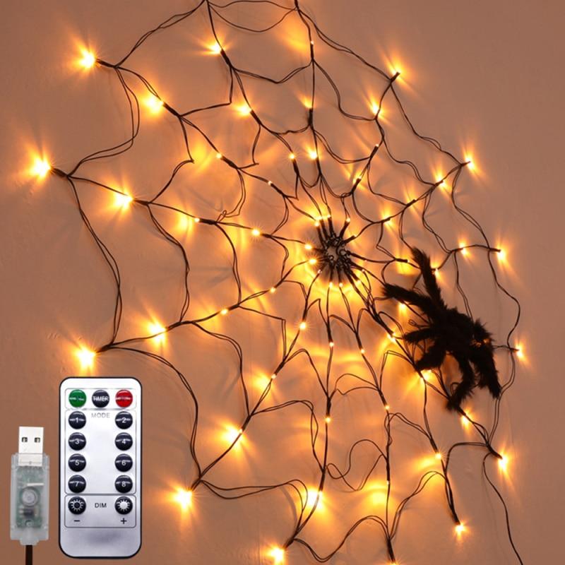 halloween luz string led aranha web string luz atmosfera lampada halloween decoracao