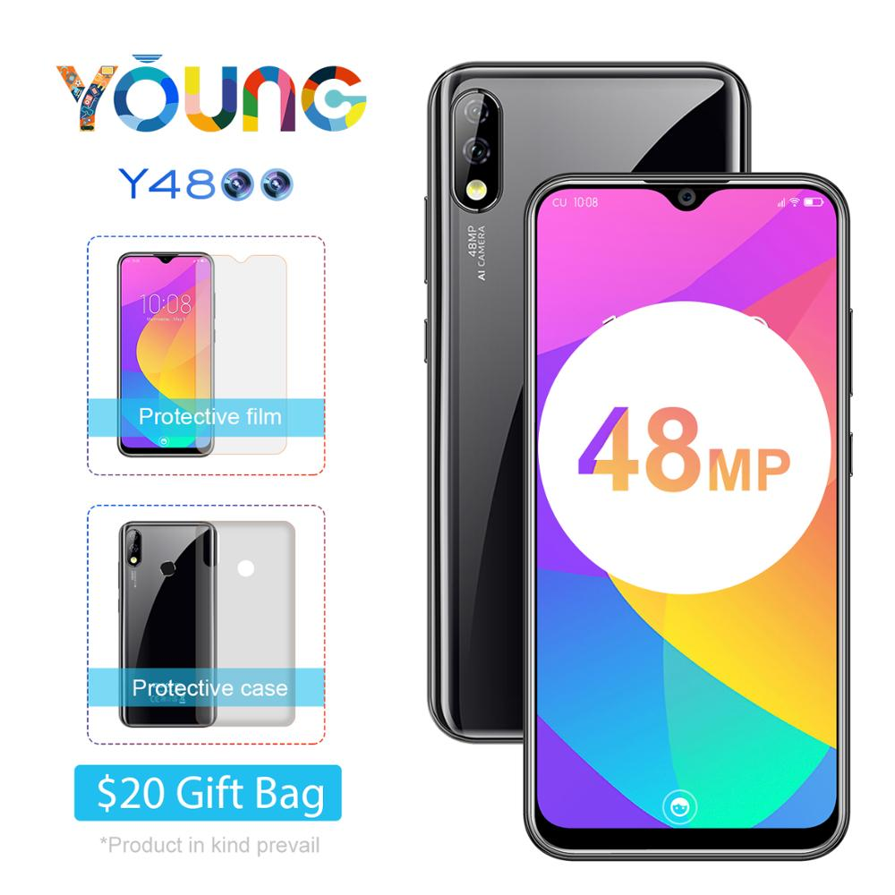 """OUKITEL Y4800 Smartphone 6G RAM 128G ROM Android 9.0 6.3""""19.5:9 FHD Octa Core Mobile Phone 4000mA Face ID Cellphone"""