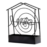 mosquito coil holder retro metal iron art portable anti slip mosquito incense hanging rack for bedroom living room