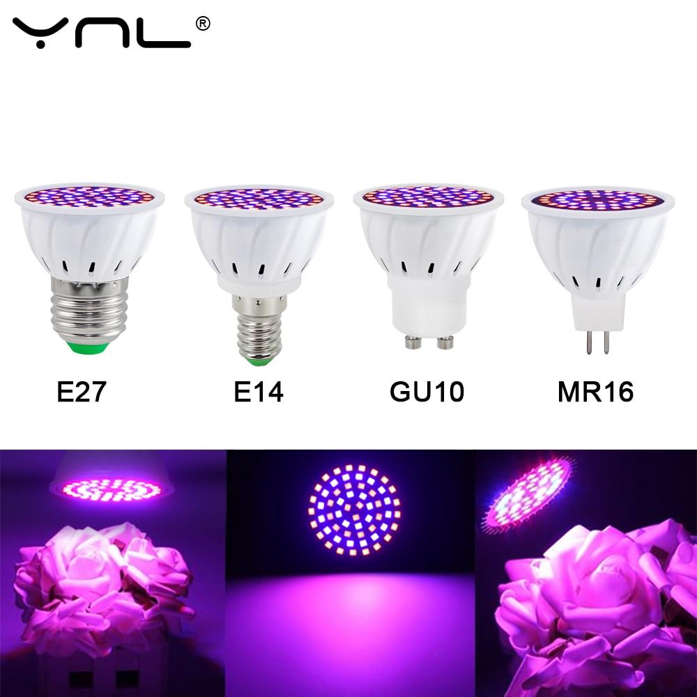 Led Grow Bulb E27 E14 MR16 GU10 220V Full Spectrum LED Plant Hydroponic Growth Light Phyto Lamp Indoor Lighting Flower Seedling