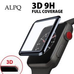 3d protetor de vidro temperado protetor de tela para apple watch para iwatch 4 3 2 filme curvo completo para iwatch 38mm 40mm 42mm 44mm