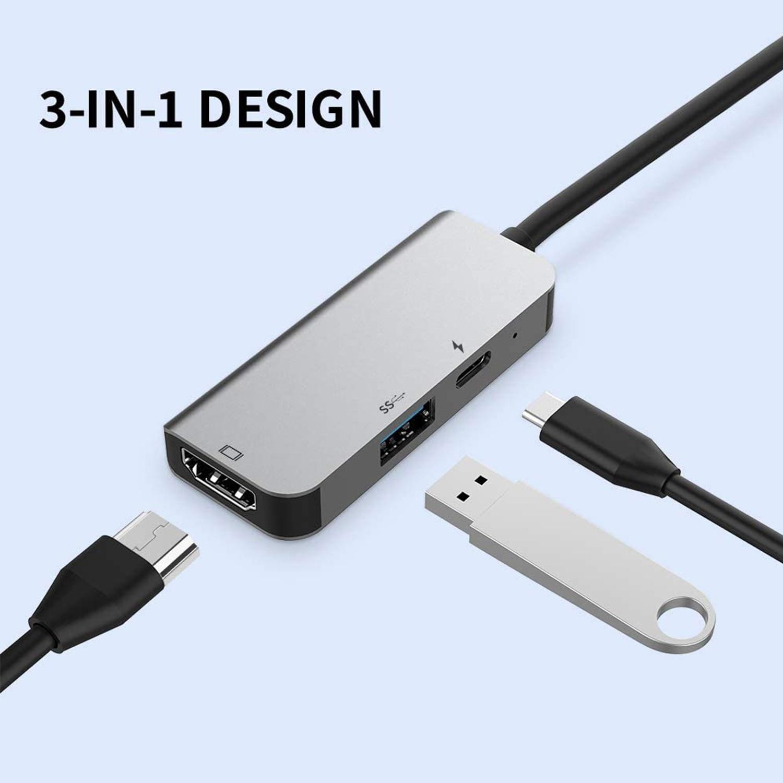 UGI 3IN1 نوع C USB HUB عالية السرعة الخارجية 3 منافذ محول الفاصل USB المتوسع اكسسوارات الكمبيوتر لأجهزة الكمبيوتر المحمول ماك بوك USB3.0