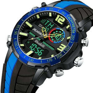 Top Brand Men Watch Fashion Dual Display Sports Mens Wristwatch Analog Digital Chronograph Waterproof Clock Relogio Masculino