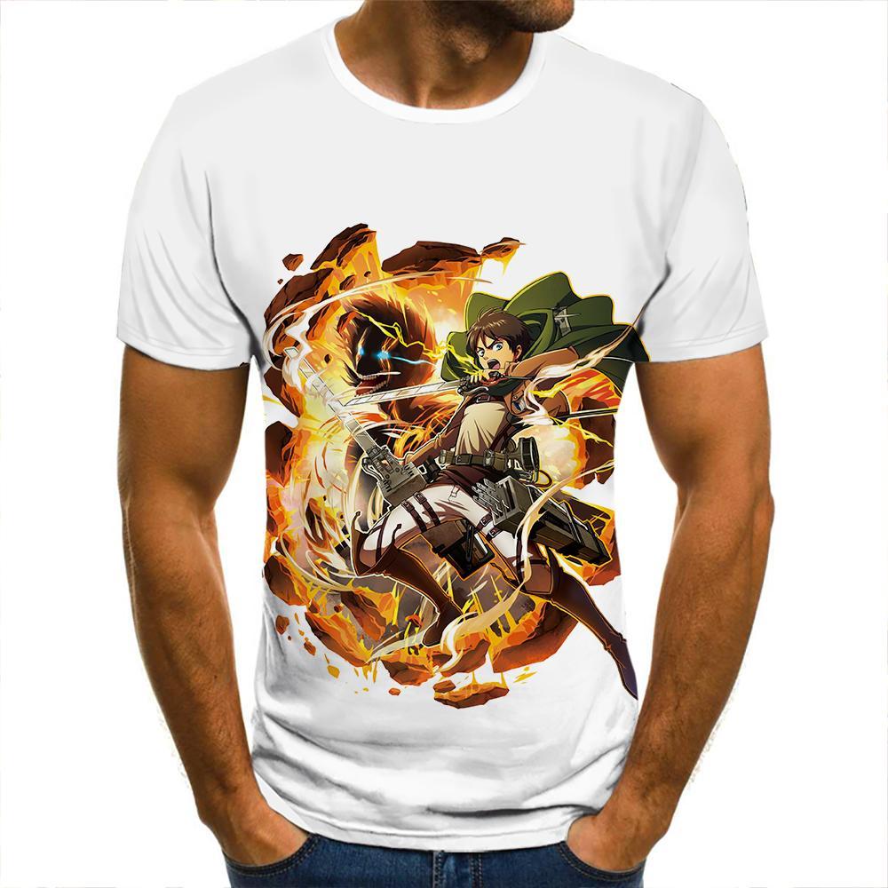 Camiseta con estampado 3d de titan leadclothing para hombre, Camiseta informal de...