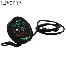 4-in-1 Motorcycle Meter Time/Water Temperature/Voltage/USB Table For Z900 ER6N Z800 Z750 Z1000SX CRF 450 CRF XR XL 85 CBR600RR