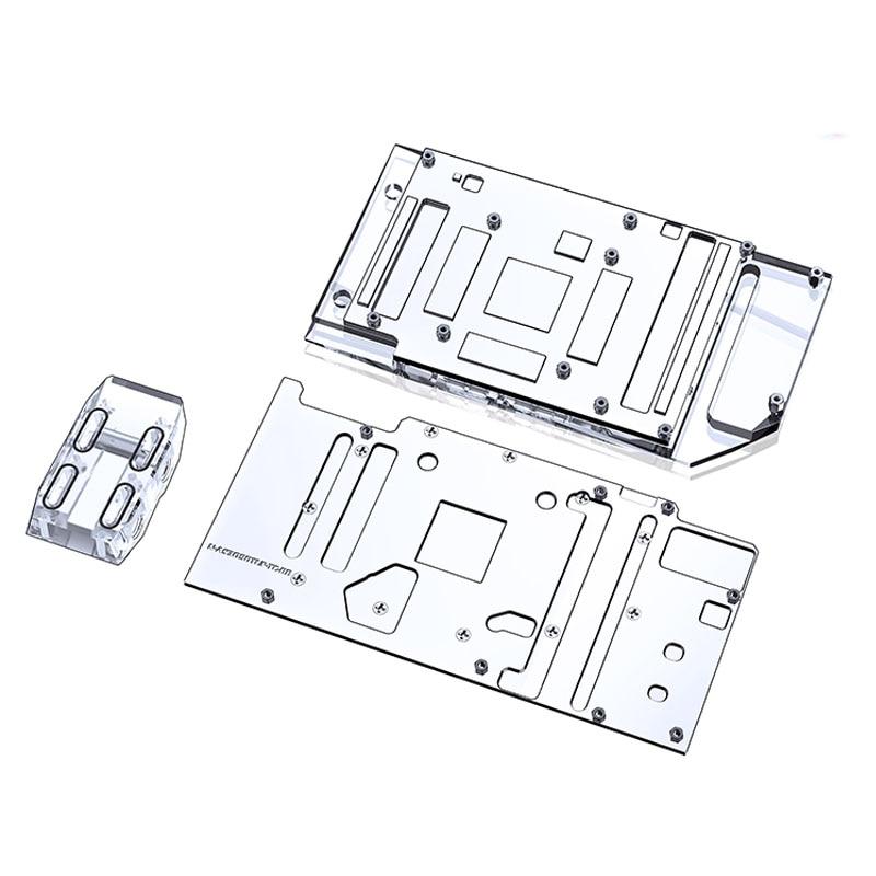Bykski Front Back Block Kit Video Memory Block For ASUS TUF RTX 3090/3080 24G/10G GAMING,Full Cover Copper ,N-AS3090TUF-TC