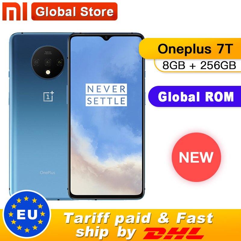 Neue Original Oneplus 7 T 7 T Smartphone 8GB RAM 256GB ROM Snapdragon 855 Plus Android 10 6.55 90Hz Bildschirm 48MP Kamera Octa Core