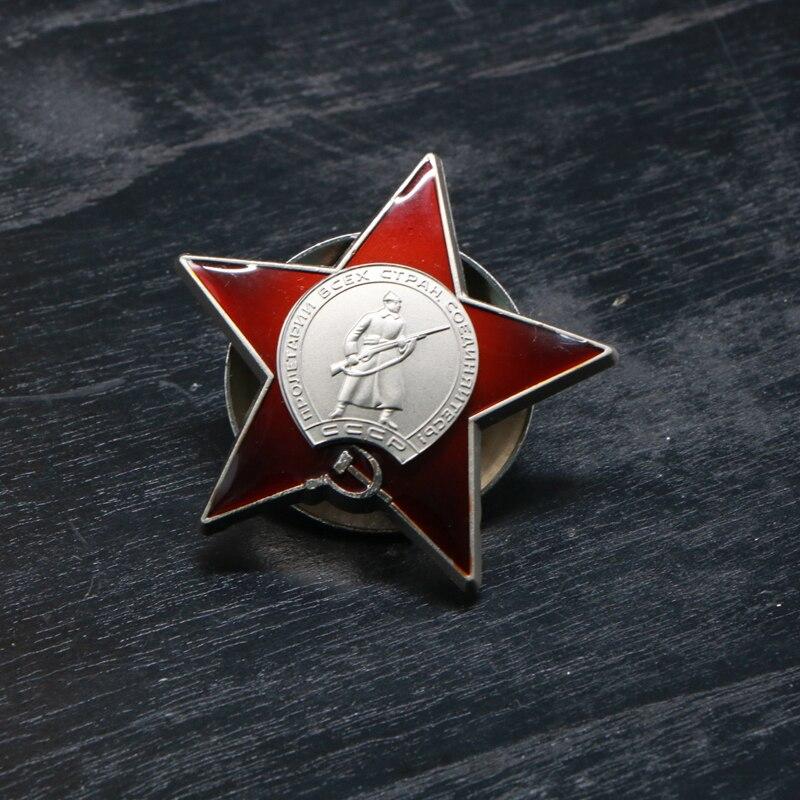 Ordem da estrela vermelha do exército russo vermelho união soviética urss medalha militar emblema moedas comemorativas broche favoritos
