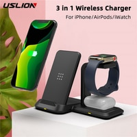 3 in 1 10W wireless charger fast charging Stand Holder for iphone 8/XS/XR/11 Pro Max for Apple Watch 5/4/3/2/1 for Airpods 2 Pro
