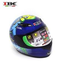 IBK casque bleu intégral moto unisexe Casco ouvert-visage cool Style été casque de protection IBK-902