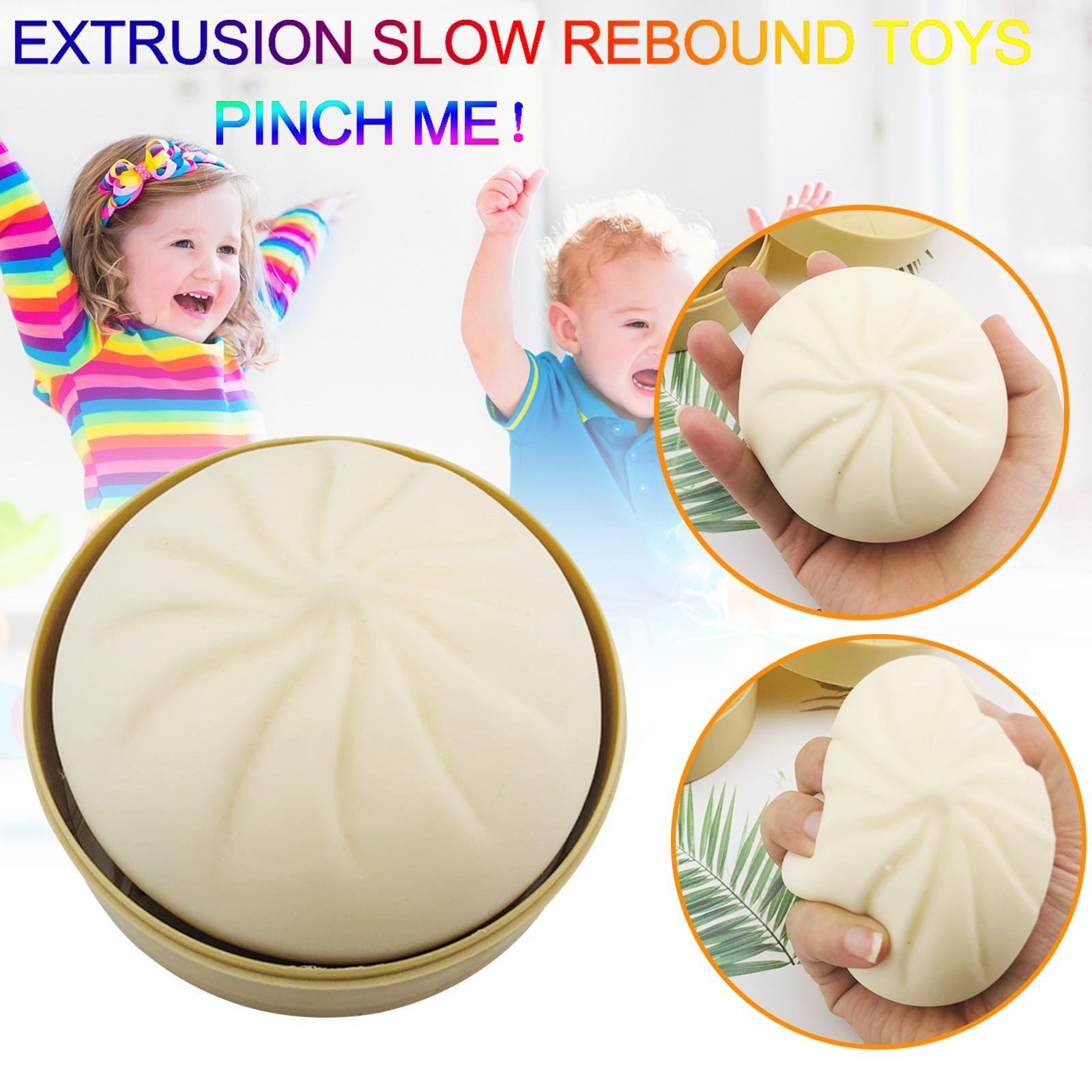 Steamer Of Steamed Stuffed Bun Fidget Sensory Toy Autism Special Needs Stress Reliever Stress Soft Squeeze Fidget Toy Set недорого
