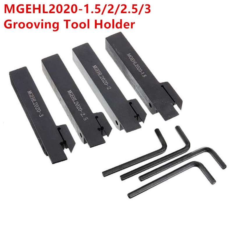 MGEHL2020 20 x 20 x 125mm-1.5/2/2.5/3 Grooving Turning Tool Holder MGEHL Lathe Bar for MGMN Insert