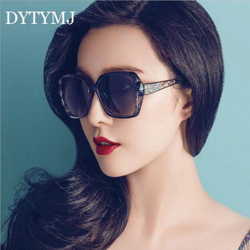 DYTYMJ Винтажные Солнцезащитные очки женские брендовые дизайнерские очки женские большие очки женские роскошные зеркальные очки
