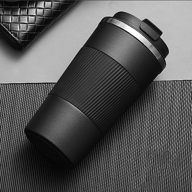 380ml/510ml Double Stainless Steel Coffee Thermos Mug with Non-slip Case Car Vacuum Flask Travel Insulated Bottle
