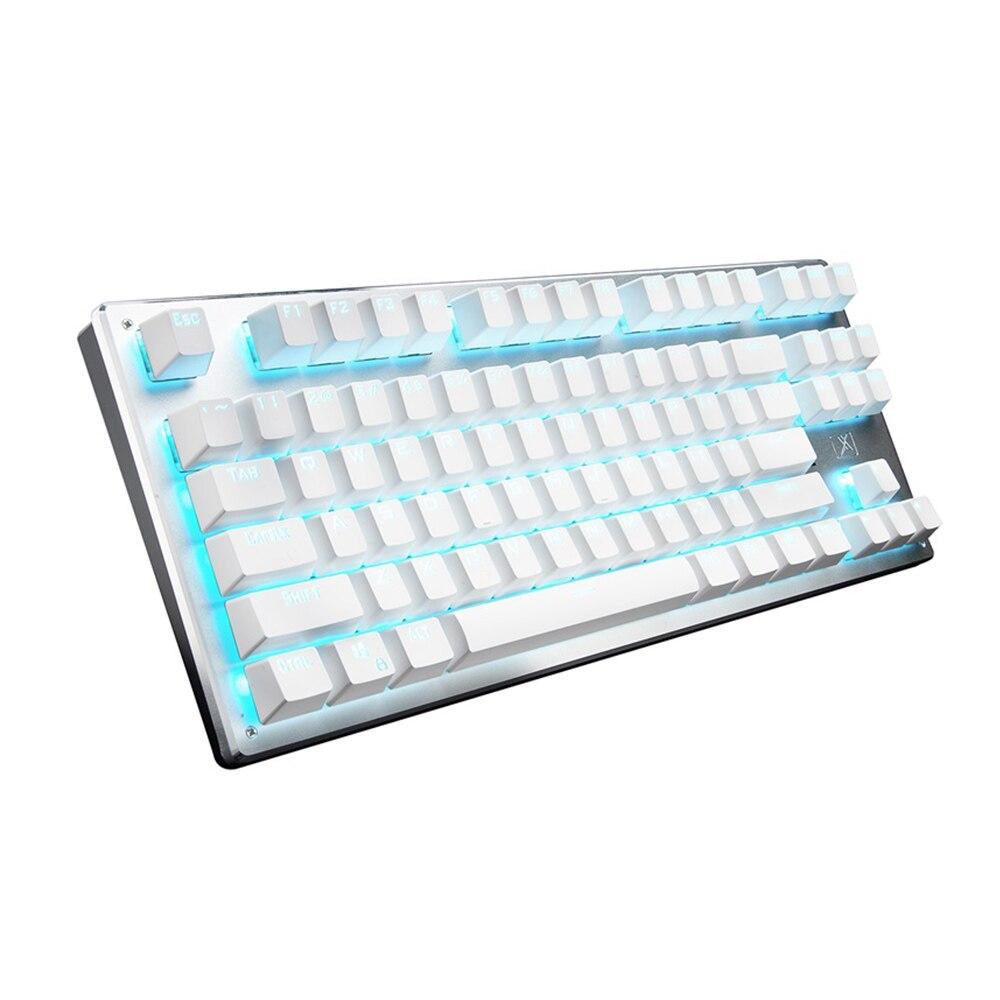 87 مفتاح بلوتوث لوحة المفاتيح الميكانيكية السلكية اللاسلكية شخصية الإضاءة بلوتوث 3 وضع فابلت ألعاب كمبيوتر لوحة المفاتيح