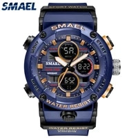 smael 2021 colorful men watch outdoor sports mens watches 50m waterproof multifunctional g style shock male relogio masculino