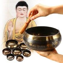 7 taille tibétain chantant bol maison bouddhisme décoration décorative Yoga cuivre Chakra guérison cadeau spirituel