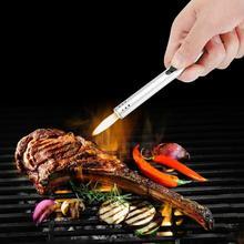 Briquet torche métallique Barbecue charbon de gaz   Briquet, cuiseur à gaz, butane torche, soplete cocina poêle briquet pistolet de cuisine dextérieur