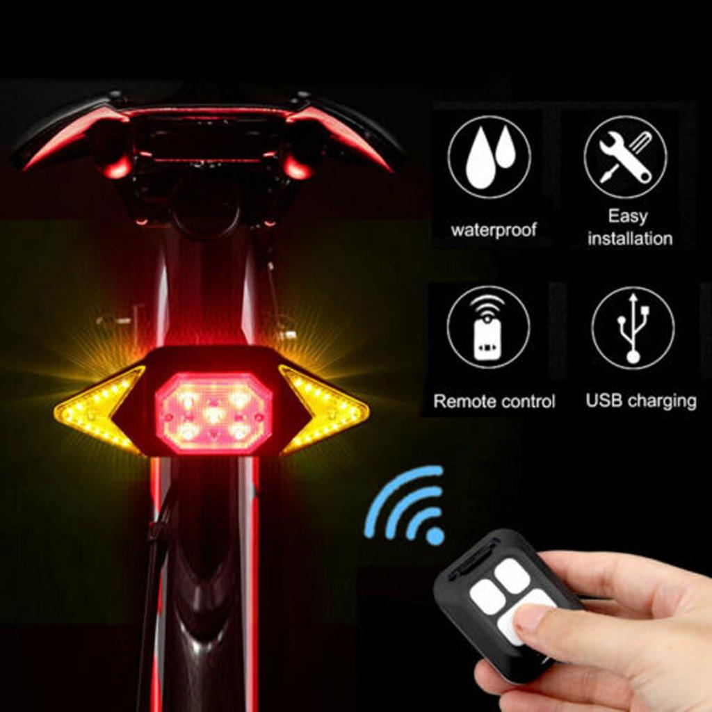 Intermitentes con luz trasera de bicicleta, 5 modos, recargable vía Usb, Control...