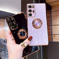 Чехол с кольцом-подставкой для Huawei P30, P40 Pro, P20, Mate 20, P30 Pro, Honor 20 Pro, P 30