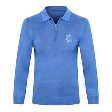 Billionaire sweater wool men's 2019 New Autumn Winter Fashion zipper comfort warm gentleman embroidery M-5XL free shipping