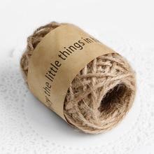 Ficelle de Jute bricolage 10M   Corde de chanvre, cordon de lin, fil de Jute, décor pour fil de bricolage pour jouets artisanat pièces Vintage rustique, outils de décoration de mariage
