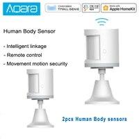 Aqara     Capteur de mouvement intelligent  detecteur sensoriel Zigbee avec connection pour Mi Home App HomeKit via Android et iOS