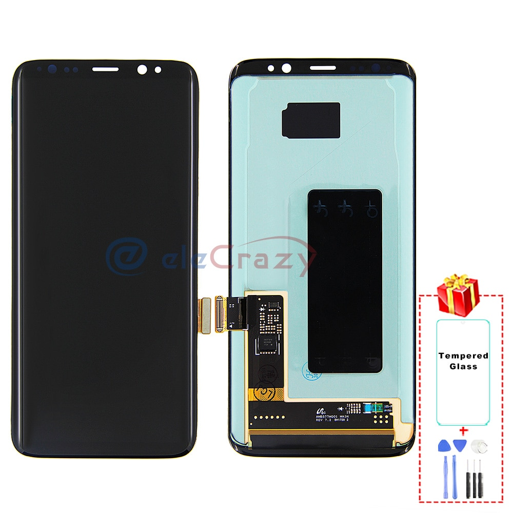 Original AMOLED for Samsung Galaxy S8 G950F LCD Display with Touch Digitizer and Frame Assembly Replacement 100% Tested enlarge