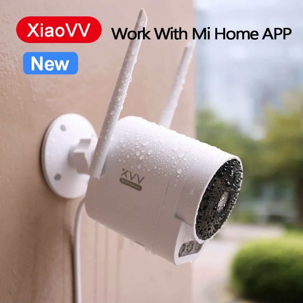 شاومي XVV في الهواء الطلق كاميرا برو 1080P HD واي فاي كام 150 درجة زاوية واسعة IP65 الأشعة تحت الحمراء للرؤية الليلية 3 قطعة LED أضواء التحذير للمنزل Mi