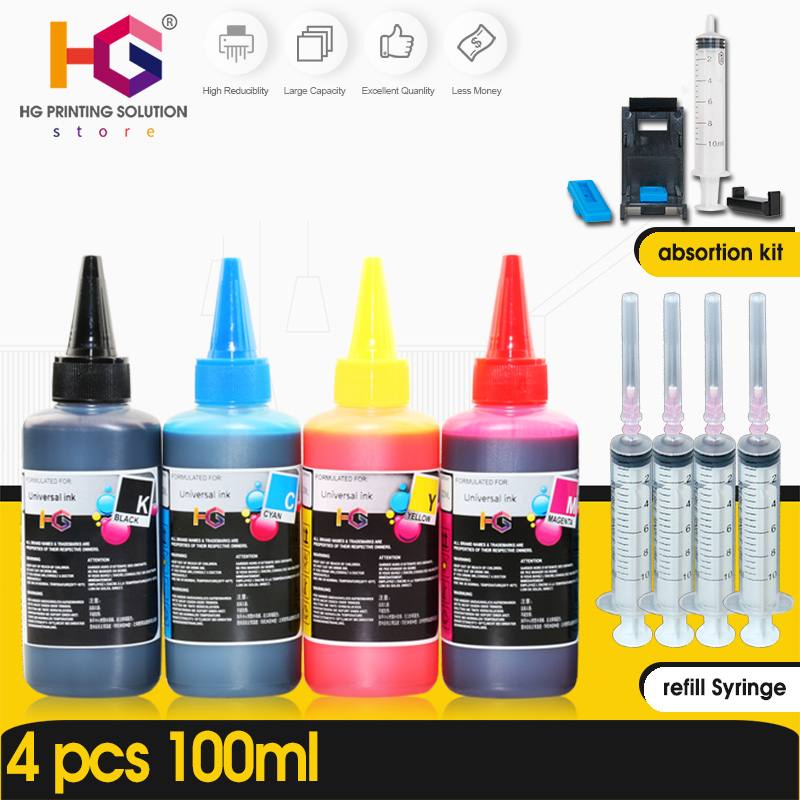 HG Refill Ink Kit for Epson for Canon for HP for Brother Printer CISS Ink and refillable printers dye ink