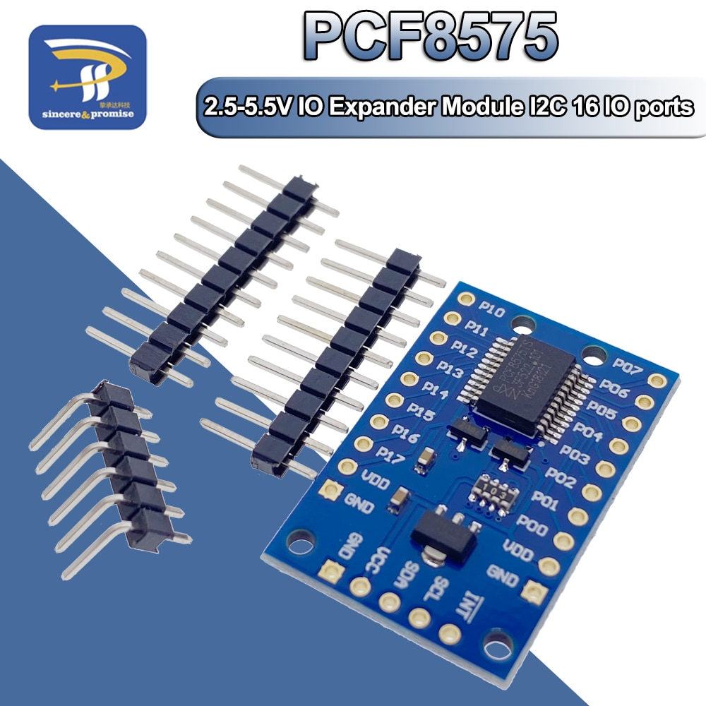 Módulo de expansión PCF8575, placa expansora de puerto IO CC 2,5-5,5 V, control de comunicación I2C, 16 puertos IO para Arduino