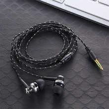 1 шт.; Лидер продаж; Высокое качество проводные наушники стерео наушники-вкладыши 3,5 мм нейлоновый плетеный кабель наушники гарнитура с микр...