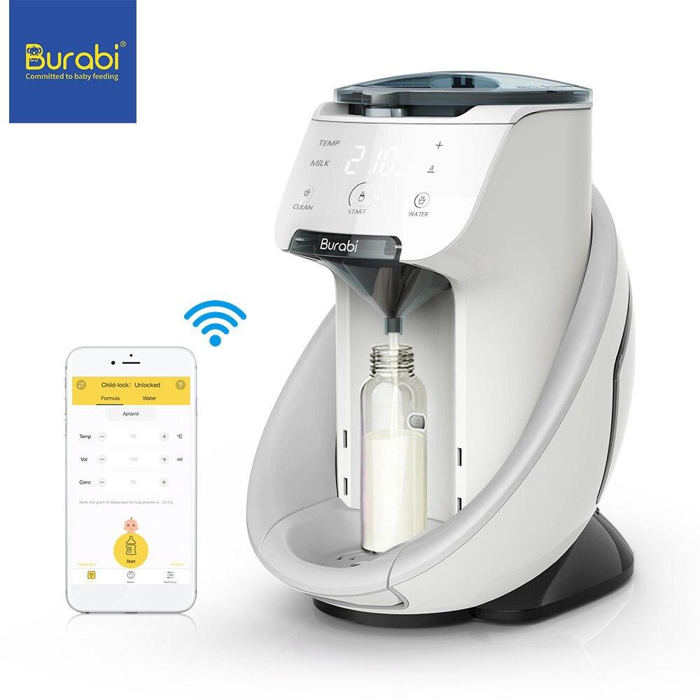 Burabi Baby Formula Dispenser Machine, Smart Automatic WiFi App Control baby Formula Milk Mixer Warmer Maker Machine