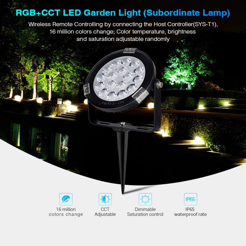 MILIGHT-مصباح حديقة LED ، 9W RGB CCT ، التحكم الصوتي ، تطبيق Amazon Alexa ، التحكم الصوتي ، wi-fi
