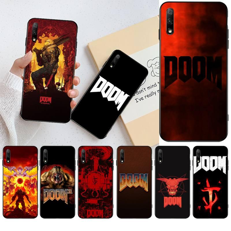 NBDRUICAI calavera juego Doom silicona suave TPU teléfono cubierta para Huawei Honor 20 10 9 8 8x 8c 9x 7c 7a Lite view pro