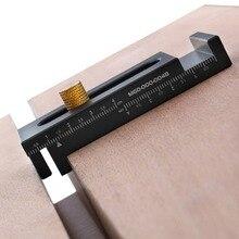 Petit radeau en alliage daluminium coudre ajusteur règle en dents de scie