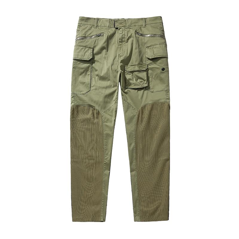 الربيع والخريف الرجال وزرة غير رسمية عالية الجودة البوصلة الفاخرة متعددة جيب سراويل تقليدية الاتجاه الشباب مستقيم pants2021