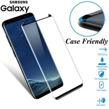 JGKK 3D Curved Glass For Samsung Galaxy S8 S9 Plus Note 8 9 Tempered Glass Case Friendly Screen Prot