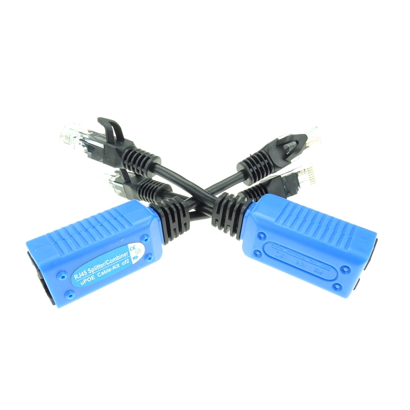 RJ45 Splitter Combiner uPOE Cable Kit POE Adapter Cable Connectors Passive Power Cable For POE Camera System enlarge