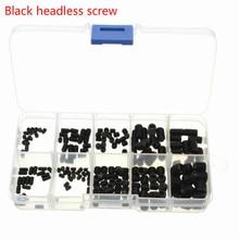200pcs Black Allen Head Socket Hex Set Grub Screw Cup Point Assortment Kit + Box