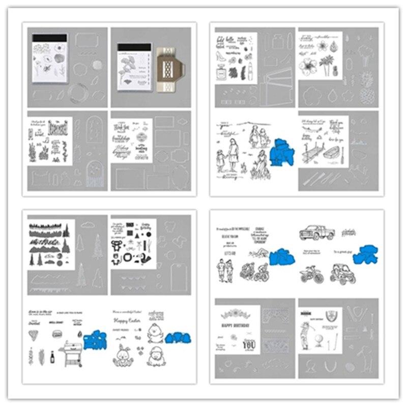 Troqueles de corte de Metal y plantillas de sellos para bricolaje Scrapbooking decorativo Manualidad en relieve Plantilla de troquelado sello y troqueles