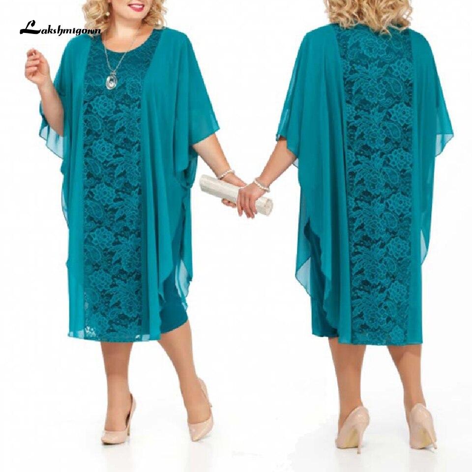 Akshmigown turquesa de talla grande Vestidos de la madre de la novia Vestidos de fiesta de noche elegantes Vestidos de fiesta de noche